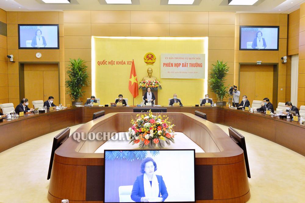 Ủy ban Thường vụ Quốc hội cho ý kiến cho ý kiến về các biện pháp hỗ trợ người dân gặp khó khăn do đại dịch Covid-19 theo đề nghị của Chính phủ