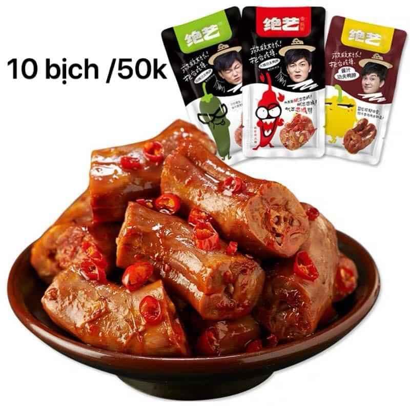 Nhiều món ăn vặt mặn như cổ vịt, cánh vịt có  giá khá rẻ