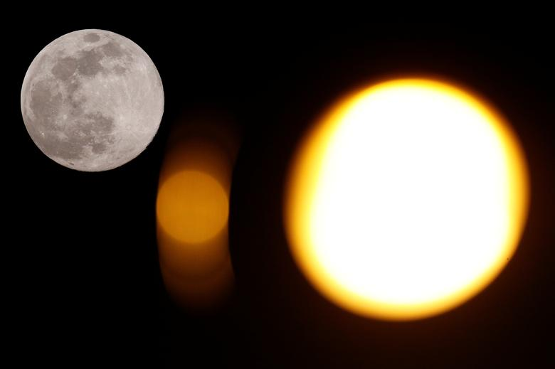 Hình ảnh siêu trăng tròn, sắt nét được ghi lại từ Rome, Ý.
