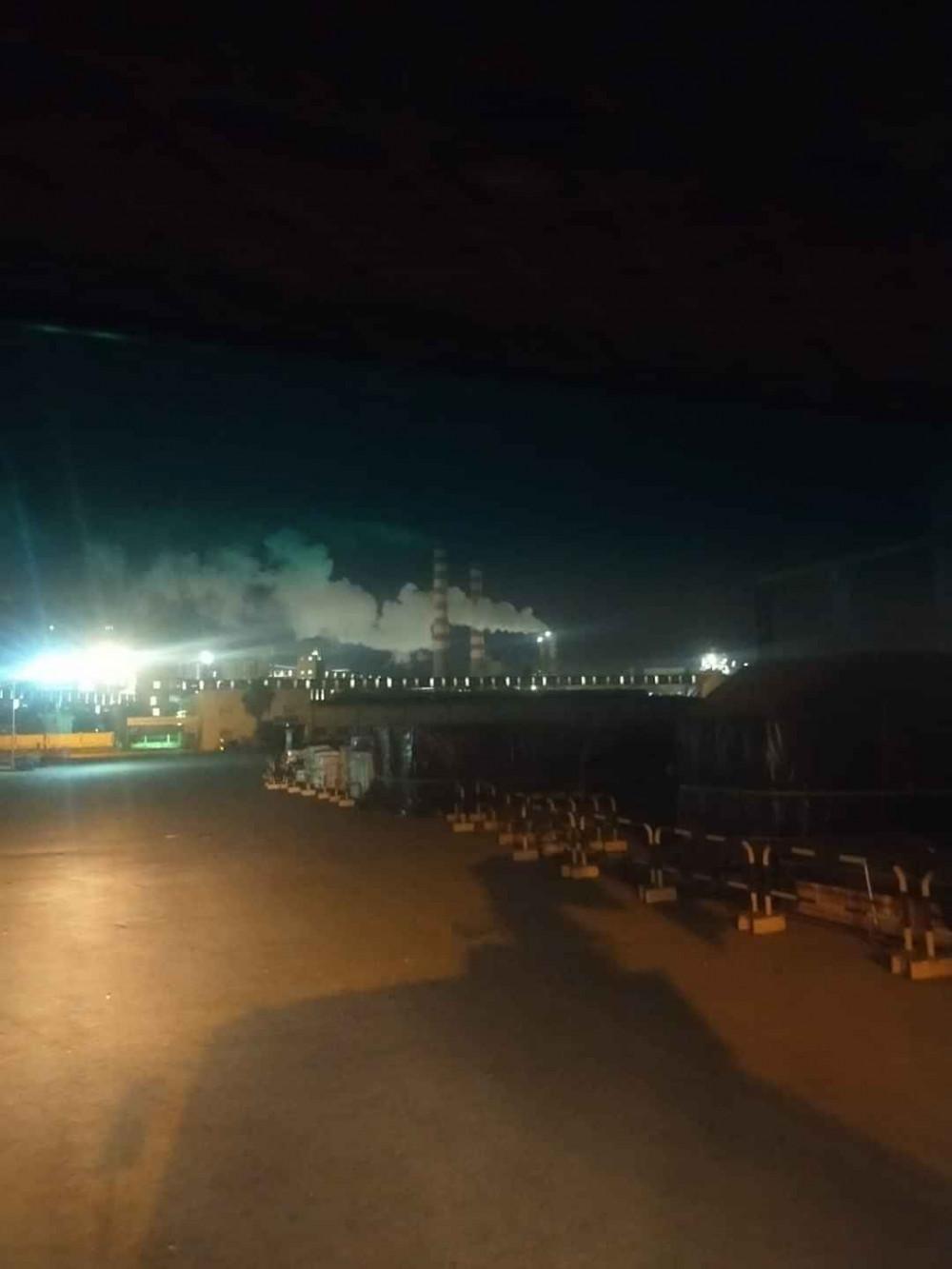 Hình ảnh tại khu sản xuất của Hòa Phát Dung Quất do người dân địa phương ghi lại