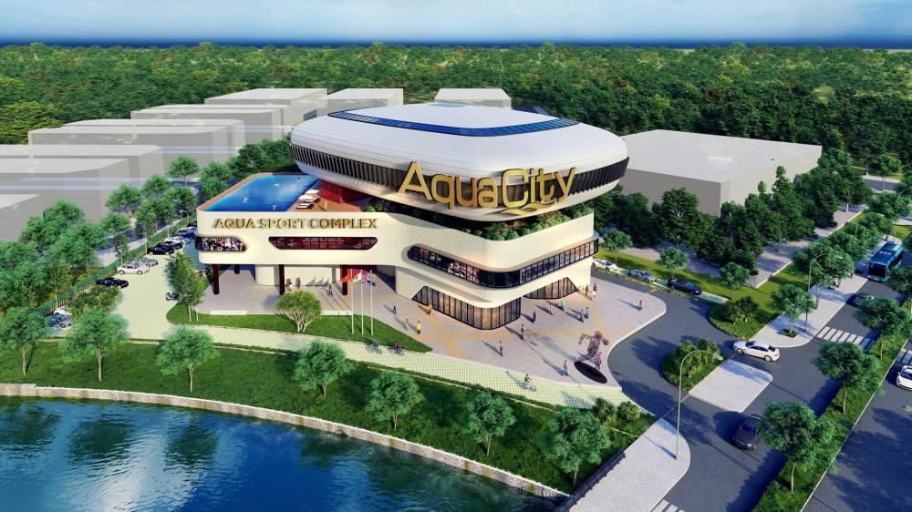 Phối cảnh trung tâm thể thao bên trong Aqua City