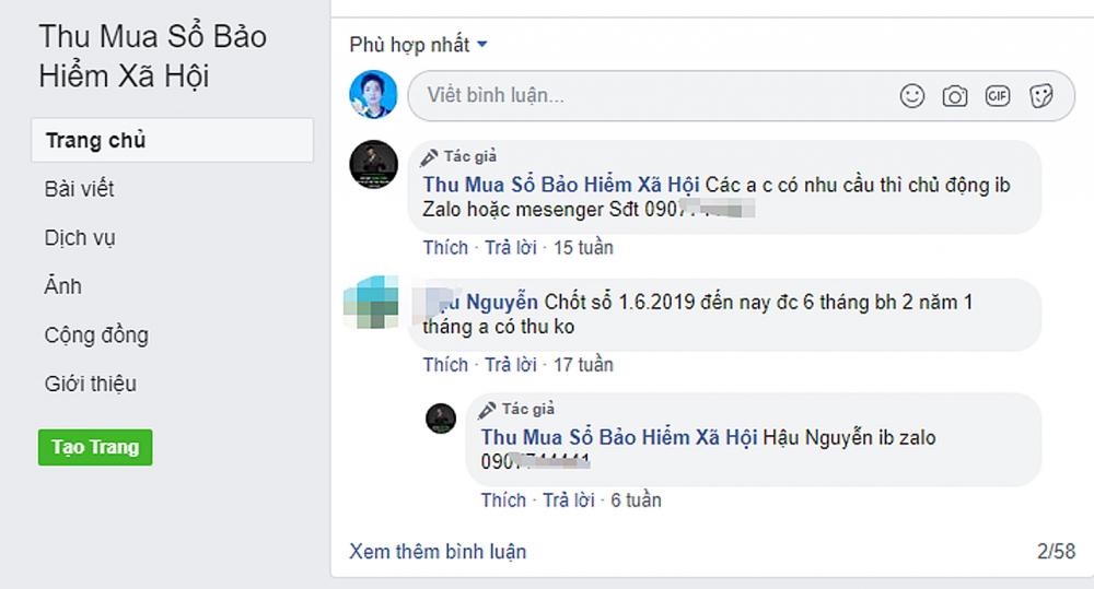 """Trang """"Mua sổ bảo hiểm"""" ghi văn phòng giao dịch ở số 51 Lê Hồng Phong, Q.11, TP.HCM"""