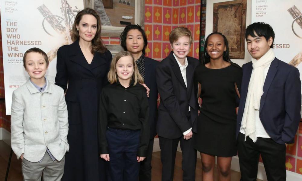 Angelina Jolie đang nuôi dưỡng 6 đứa con.