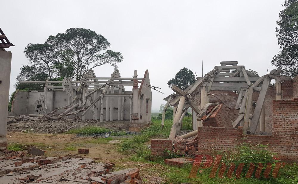 Nhiều hạng mục chùa Linh Sâm hư hỏng nặng