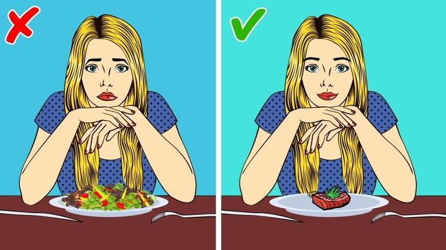 Ăn thịt hoặc phô mai Nếu bạn không ăn một vài giờ trước khi đi ngủ, bạn sẽ có được giấc ngủ ngon. Sẽ rất tốt khi ăn một ít thịt hoặc phô mai vì cả hai sản phẩm đều chứa nhiều protein và tryptophan (axit amin góp phần vào giấc ngủ ngon). Bạn cần lưu ý là một ít thôi nhé và nếu bạn đang nghĩ tới một đĩa rau lớn thì đó sẽ là một sai lầm vì trong vài giờ trước khi ngủ, các loại rau sẽ khiến bạn bị đầy hơi.  Đói bụng thường gây ra chứng mất ngủ và nếu bạn đi ngủ mà không ăn tối thì có lẽ bạn sẽ không kiềm được cơn thèm ăn vào sáng hôm sau.