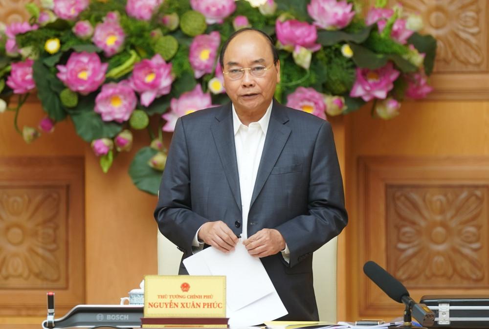 Thủ tướng Nguyễn Xuân Phúc chủ trì Hội nghị trực tuyến.