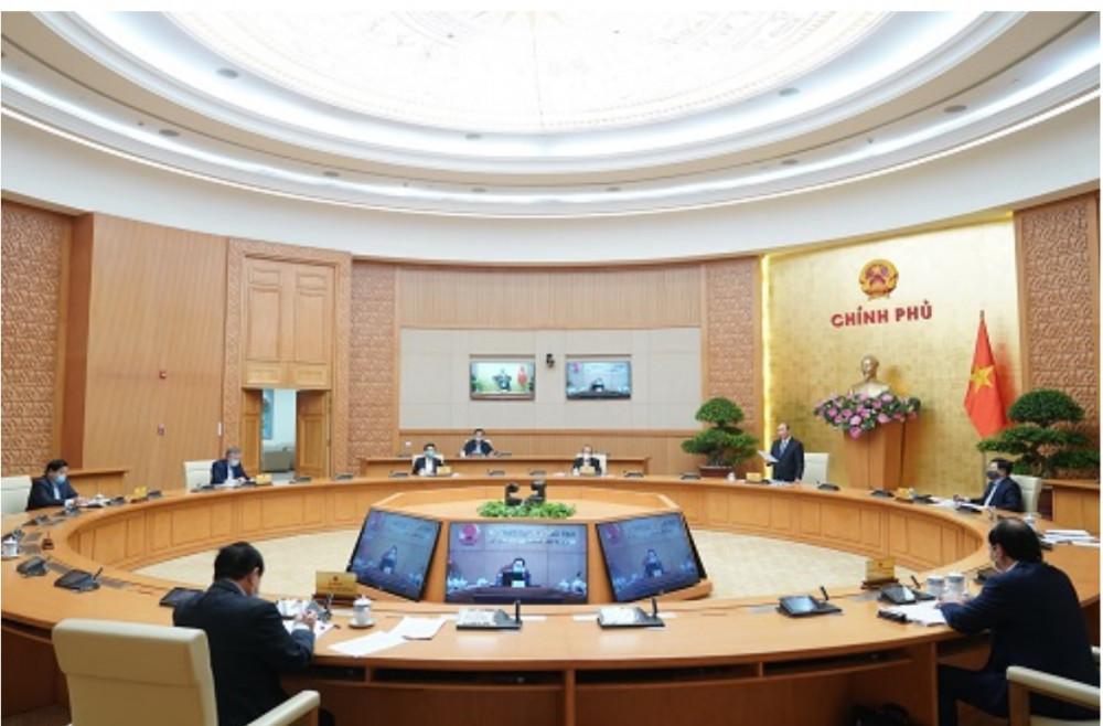 Toàn cảnh Hội nghị trực tuyến của Chính phủ.