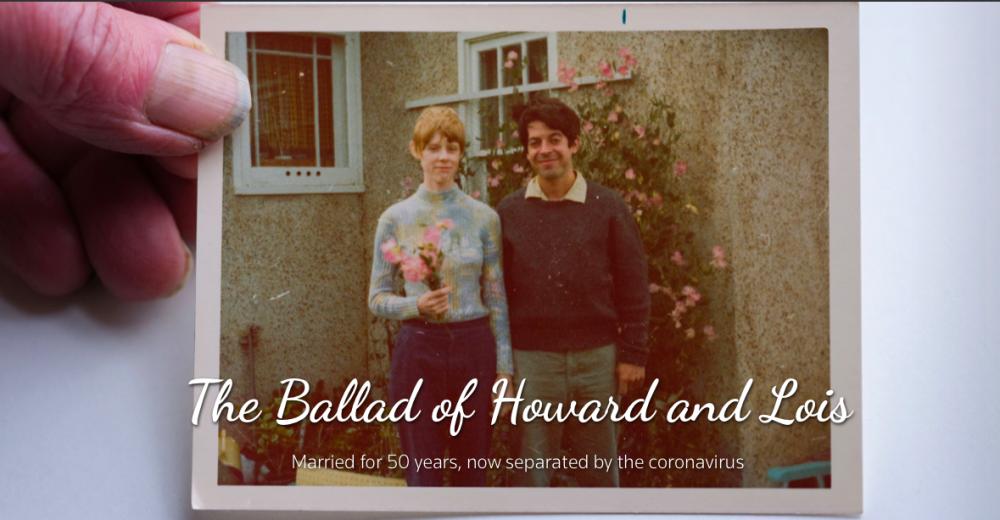 Howard và vợ ngày còn trẻ. Họ gặp và sớm biết người kia là định mệnh cuộc đời.