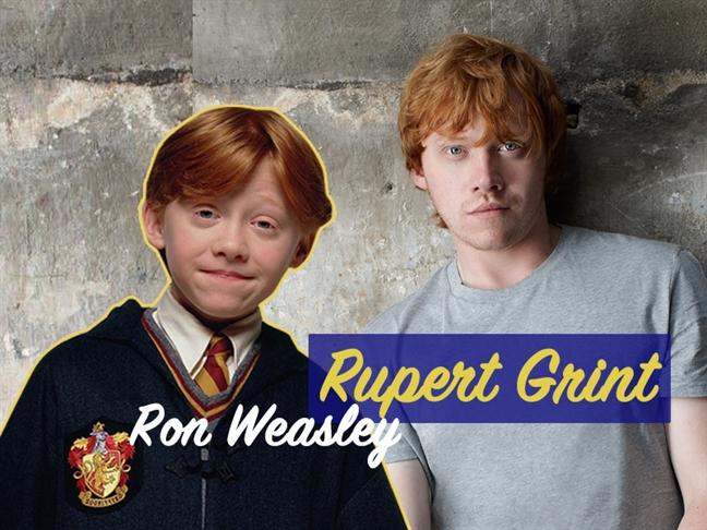 Hình ảnh Rupert Grint thời điểm đóng phim Harry Potter và hiện tại.