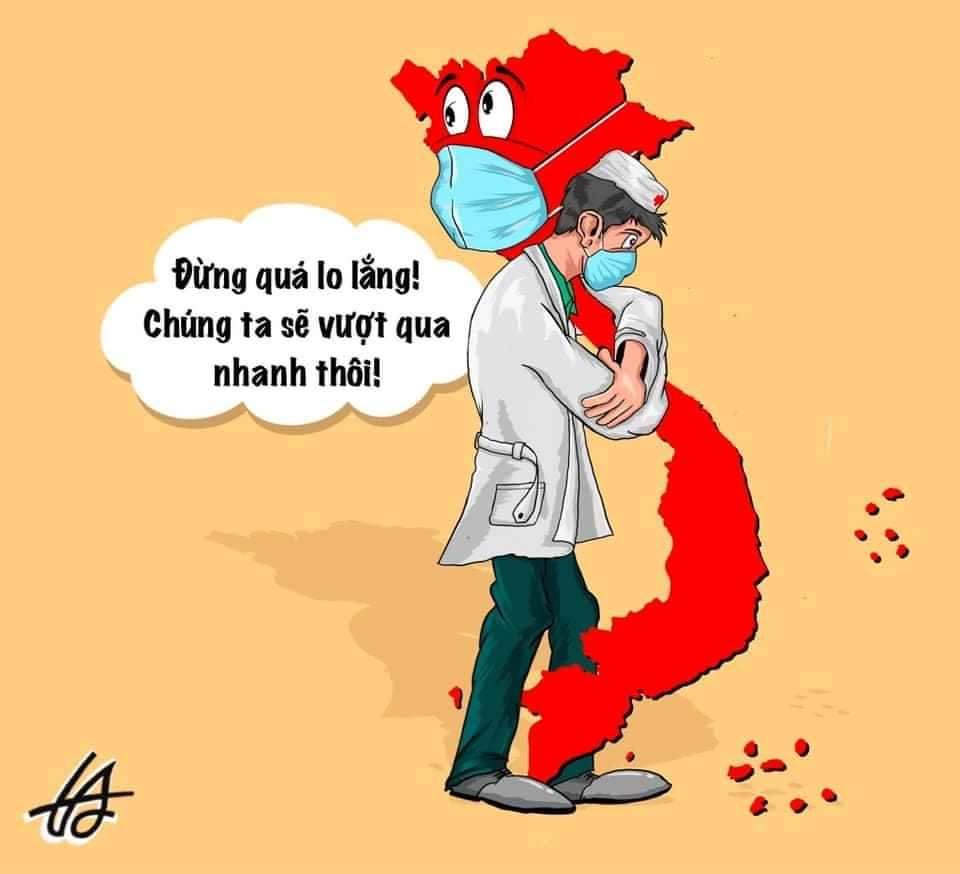 Bức biếm họa của tác giả Tuấn Anh