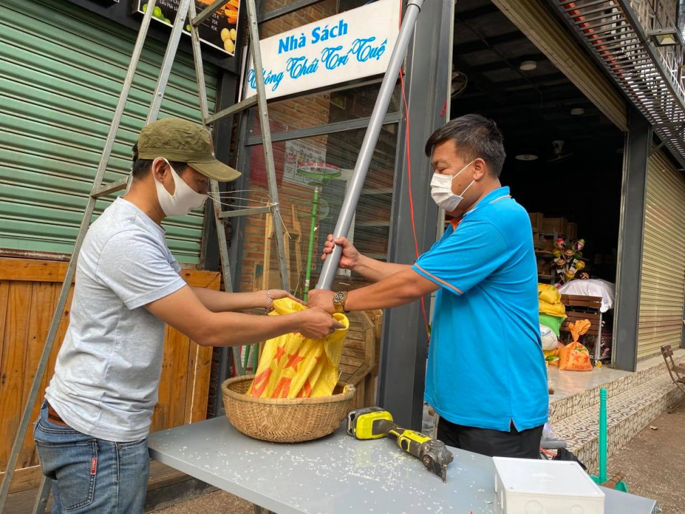 Máy cấp phát gạo tự động được lắp đặt tại tỉnh Đắk Lắk