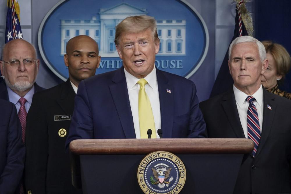 Tổng thống Hoa Kỳ Donald Trump phát biểu trong cuộc họp báo ngày 9/3/2020.