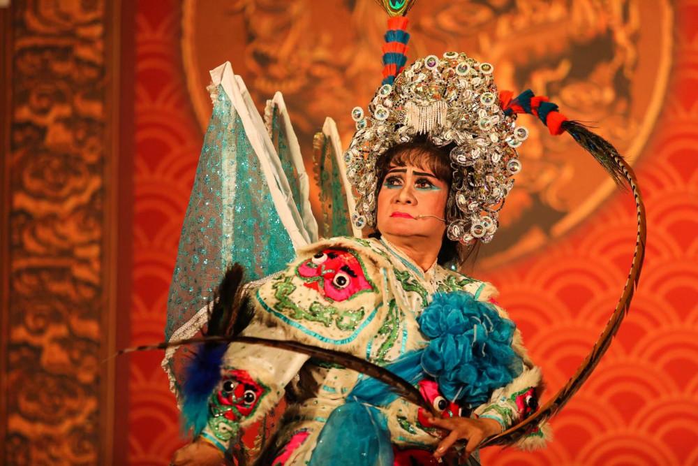 Nghệ sĩ Ngọc Khanh trong một buổi biểu diễn vào năm 2019
