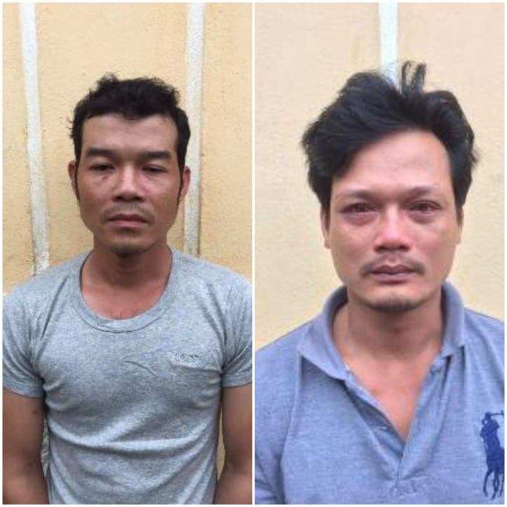 """Hai đối tượng Nguyễn Phước Tài và Nguyễn Phúc Tình (từ trái qua) bị khởi tố về hành vi """"Chống người thi hành công vụ"""""""