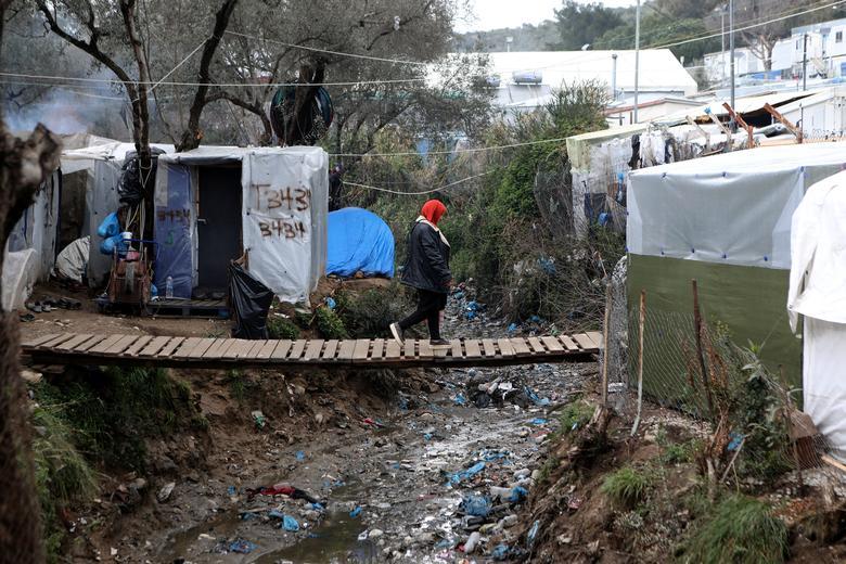 Khu nhà lụp xụp dành cho người tị nạn trên đảo Lesbos, Hy Lạp.