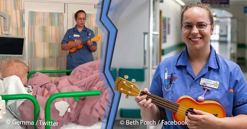 Hình ảnhBeth Porch tại bệnh viện, cô thường xuyên