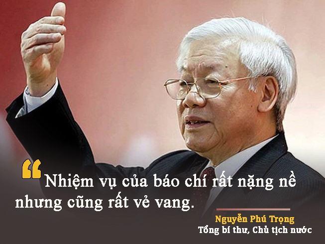 Tổng Bí thư Nguyễn Phú Trọng dự và phát biểu tại Đại hội đại biểu toàn quốc lần thứ X Hội Nhà báo Việt Nam năm 2015 - Ảnh VGP