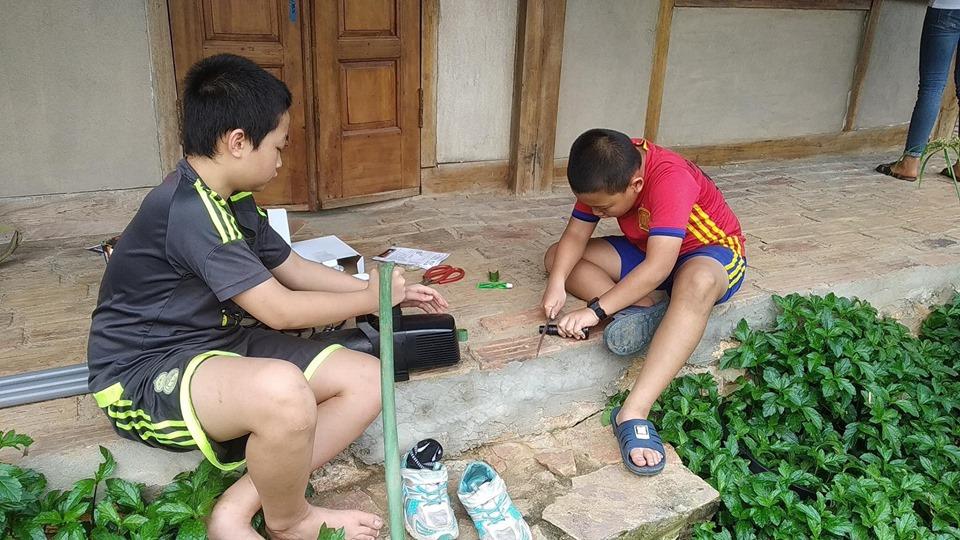 Để các con lao động là cách anh Việt cho con hiểu được nhiều điều trong cuộc sống (Ảnh nhân vật cung cấp)