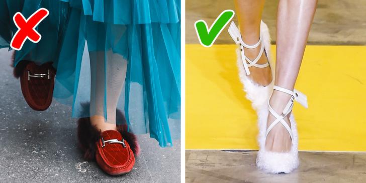 Bạn có nhớ đôi giày sabo nổi tiếng với lông thú của Gucci không? Mặc dù thực tế là những đôi giày này trông hơi kỳ lạ, nhưng chúng vẫn ở trong tủ quần áo của nhiều người trong vài năm. Nhưng thời đại của dép lông đã chấm dứt và như một sự thay thế, Marc Jacobs, Miu Miu, Altuzarra, Dries Van Noten, Ralph & Russo, Simone Rocha và JW Anderson đã tạo ra những đôi giày cao gót có lông và lông vũ.