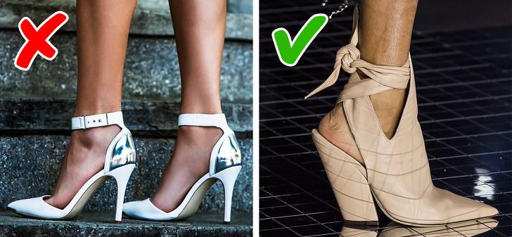 Cho đến gần đây, không có người nổi tiếng nào xuất hiện trên một sự kiện thảm đỏ mà không có giày cao gót kín mũi thời trang. Nhưng bây giờ, phong cách từ những năm 50 của 50 với một gót chân mở, còn được gọi là slingback, đã trở lại trong thời trang. Mùa xuân này, các nhà thiết kế thời trang như Coach, Louis Vuitton, Proenza Schouler và Tory Burch đề nghị tiến hành nhiều thử nghiệm khác nhau với những đôi giày này với thiết kế ban đầu được phát triển bởi Christian Dior. Họ đã đưa ra những đôi giày cao gót khác thường, nhiều yếu tố trang trí và màu sắc tươi sáng mà bạn có thể chơi trong khi thử nghiệm. Màu pastel cũng là một lựa chọn tuyệt vời.