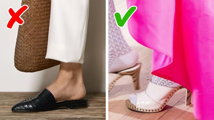 Quy tắc của năm 2020 là giày mule đã lỗi thời trong khi giày sabo đang là xu hướng. Nhưng ai có thể nói sự khác biệt giữa 2 phong cách này? Giày Sabo luôn có đế dày và không bao giờ có gót mỏng. Nhà thiết kế thời trang Marc Jacobs và Anna Sui khuyên nên đi giày có đế mỏng trên bãi biển, và giày cao hơn khi bạn đi dạo trong thành phố.