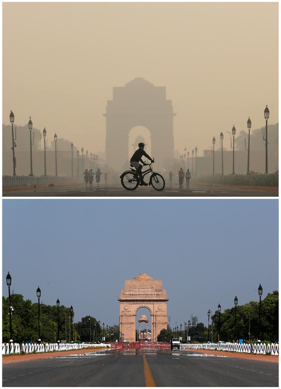 Ấn Độ là một trong những quốc gia có tình trạng ô nhiễm không khí nặng nề. Trong thời gian đất nước phong toả