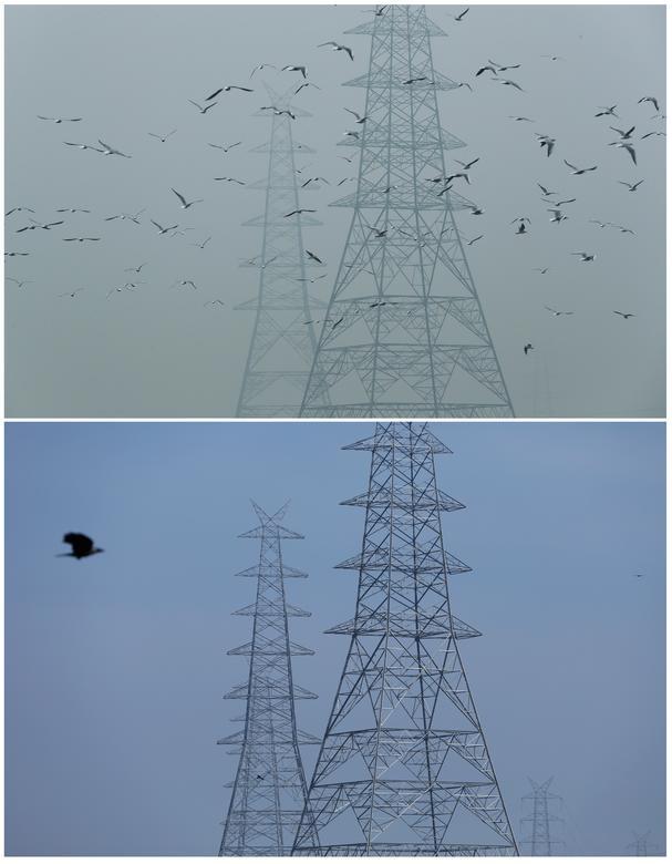 Một góc ảnh khác được ghi nhận tại Delhi, Ấn Độ cho thấy môi trường không khí đã được cải thiện đáng kể (ảnh dưới) so với trước đó vào năm 2019 (ảnh trên).
