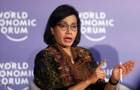 Bộ trưởng Tài chính Indonesia Sri Mulyani Indrawati tham dự Diễn đàn kinh tế thế giới về ASEAN năm 2018.