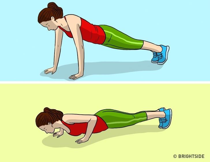 Thay thế nó bằng các bài chống đẩy. Những bài tập này có giá trị tập trung vào việc có thể làm nổi bật vóc dáng thanh mảnh của bạn. Chống đẩy rộng, ví dụ, là tuyệt vời cho cơ ngực của bạn.