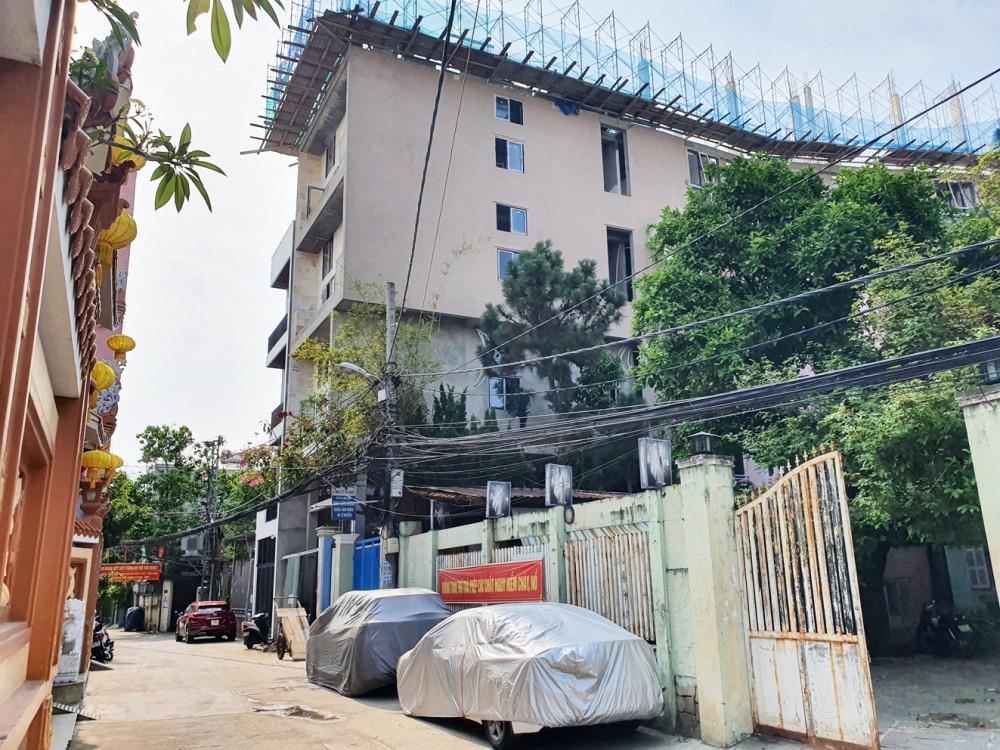 Công trình nhà ở riêng lẻ ở K152/3 Phan Thanh, Q.Thanh Khê của Công ty Đàm Gia Việt  xây dựng nhiều hạng mục không có trong giấy phép
