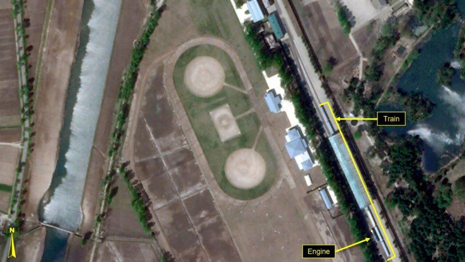 Hình ảnh từ vệ tinh cho thấy đoàn tàu riêng của nhà lãnh đạo Triều Tiên nằm yên nhiều ngày tại khu nghỉ dưỡng ở Wonsan.