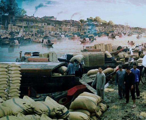 Một phần khung cảnh Bến Bình Đông được tái hiện trên phim.