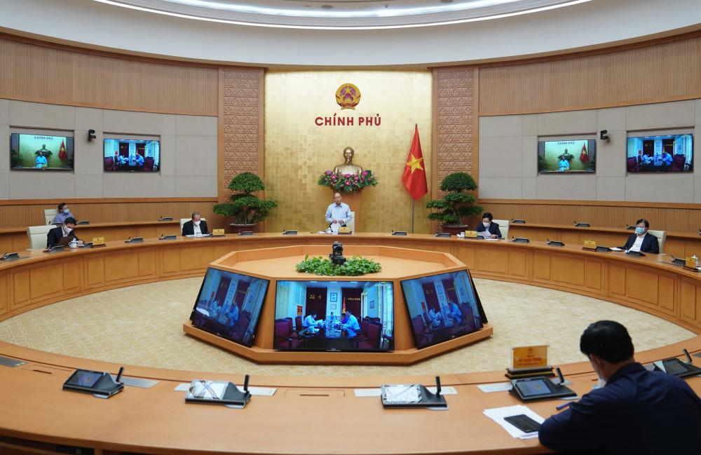 Toàn cảnh phiên họp Thường trực Chính phủ.