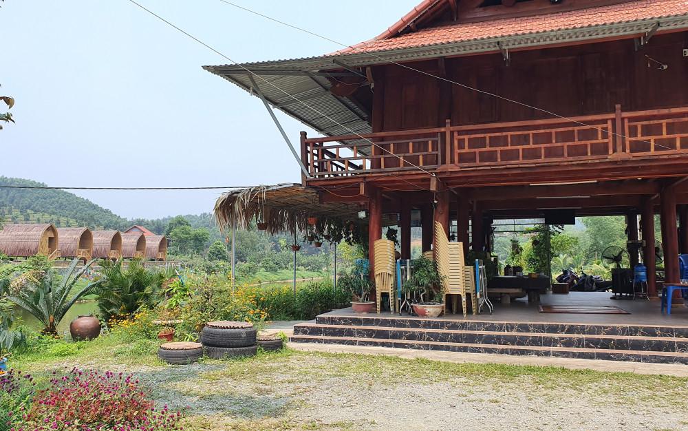 Một góc khu nông trại sinh thái được xây dựng trên đất rừng sản xuất