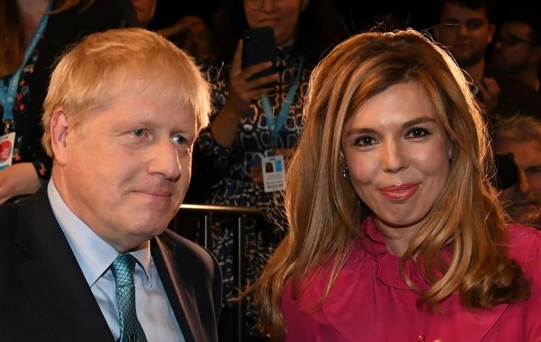 Johnson đã công khai hẹn hò với Symonds từ đầu năm 2019. Ảnh: AFP