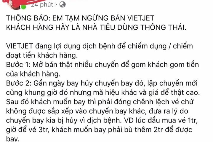 Những ngày gần đây rất nhiều đại lý bức xúc bóc mẽ chiêu trò của Vietjet Air