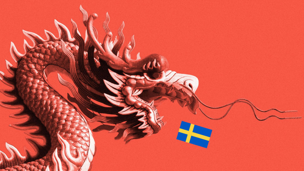 Thái độ của Bắc Kinh hủy hoại mối quan hệ của Trung Quốc với Thụy Điển - Minh họa: Sarah Grillo/Axios