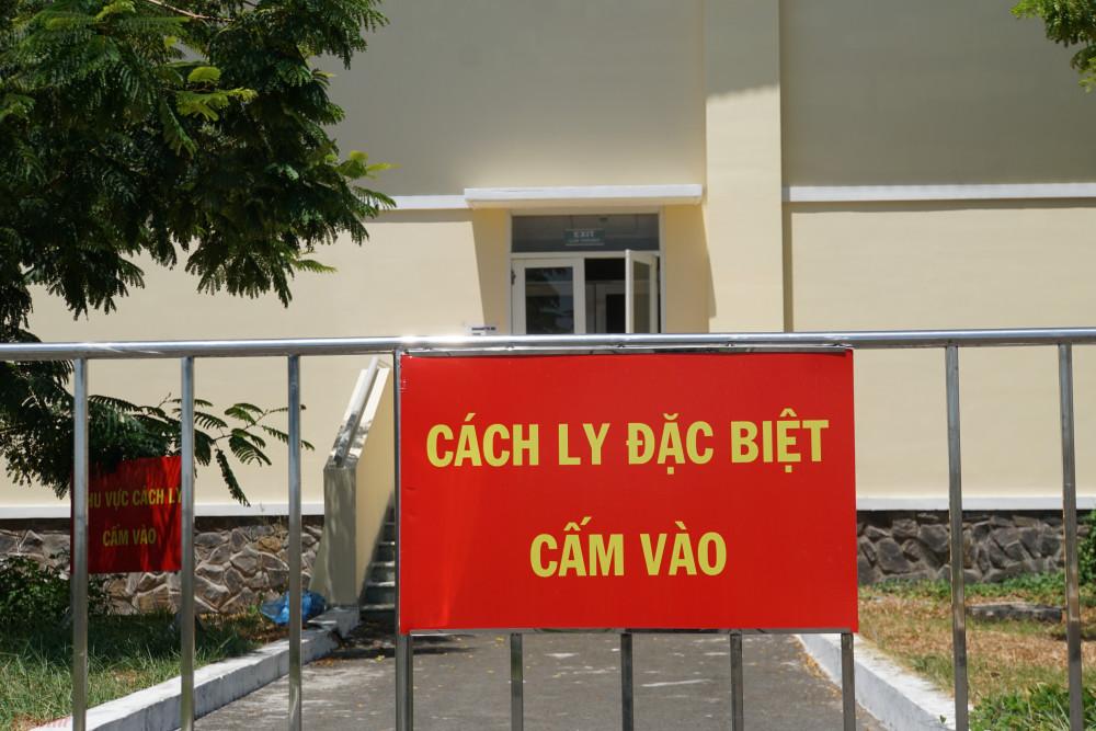 Khu cách ly đặc biệt tại Bệnh viện Điều trị COVID-19 (huyện Cần Giờ, TPHCM).