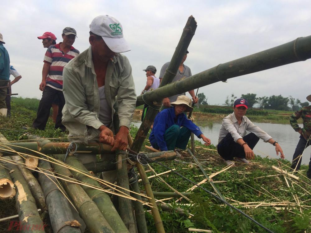 Với kinh phí được trích từ ngân sách của phường, quỹ hoạt động của Hội đồng làng Thanh Lương và đóng góp của người dân, cây cầu tre dài khoảng 50m sẽ giúp người dân canh tác hoa màu trên cồn Nổi thuận tiện