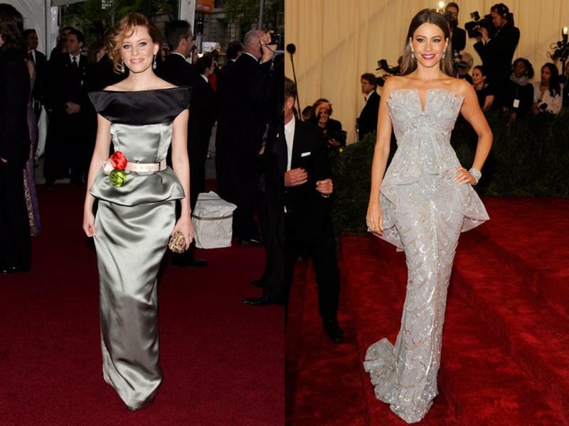 Những chiếc váy, áo được thiết kế xòe rộng ở phần eo, giúp vòng 2 trở nên nhỏ nhắn hơn, đồng thời, tạo cảm giác đẫy đà ở vòng 3 đã xuất hiện từ lâu.