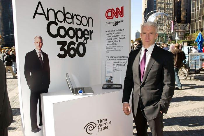Vào ngày 8/9/2003, Cooper xuất hiện lần đầu với tư cách là người dẫn chương trình Anderson Cooper 360.