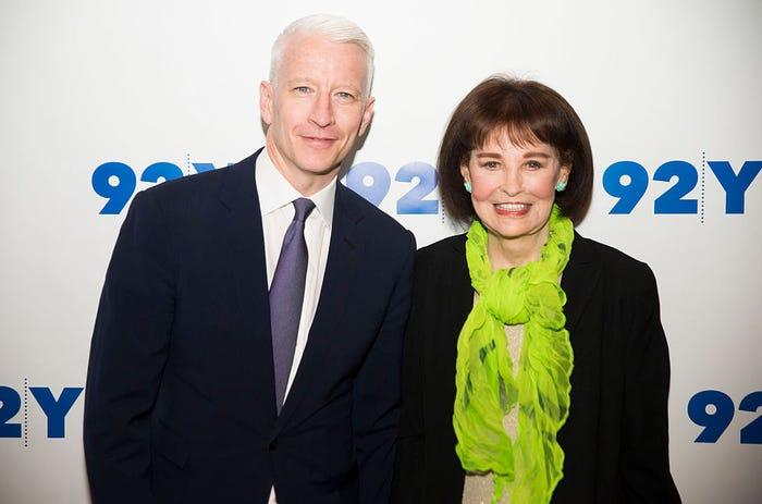 Cooper và bà Vanderbilt tham dự một sự kiện cùng nhau vào ngày 14/4/2016. Trong thời gian làm việc tại CNN và là phóng viên bản tin 60 phút của CBS, Cooper đã giành được 16 giải Emmy, hai giải thưởng Peabody và giải thưởng Edward R. Murrow.