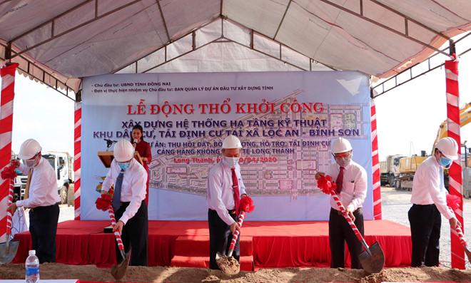 Khu tái định cư Lộc An - Bình Sơn có diện tích 280ha vừa chính thức khởi công vào ngày 20/4/2020. Ảnh: ĐXG
