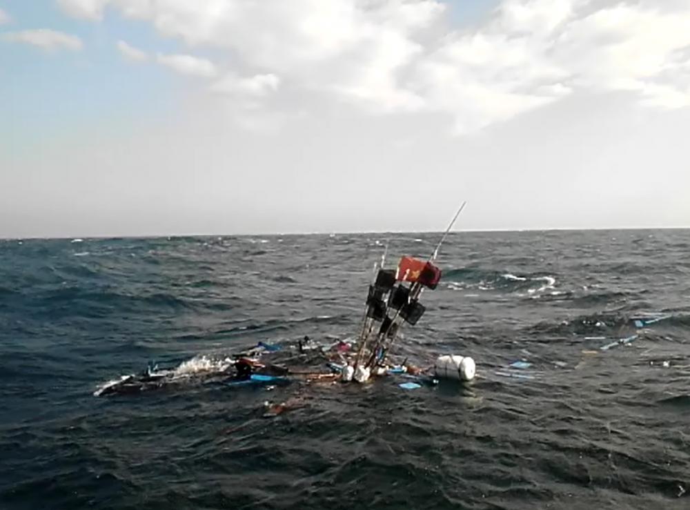 Một tàu cá Quảng Ngãi bị tông chìm vào năm 2015 - Ảnh tư liệu