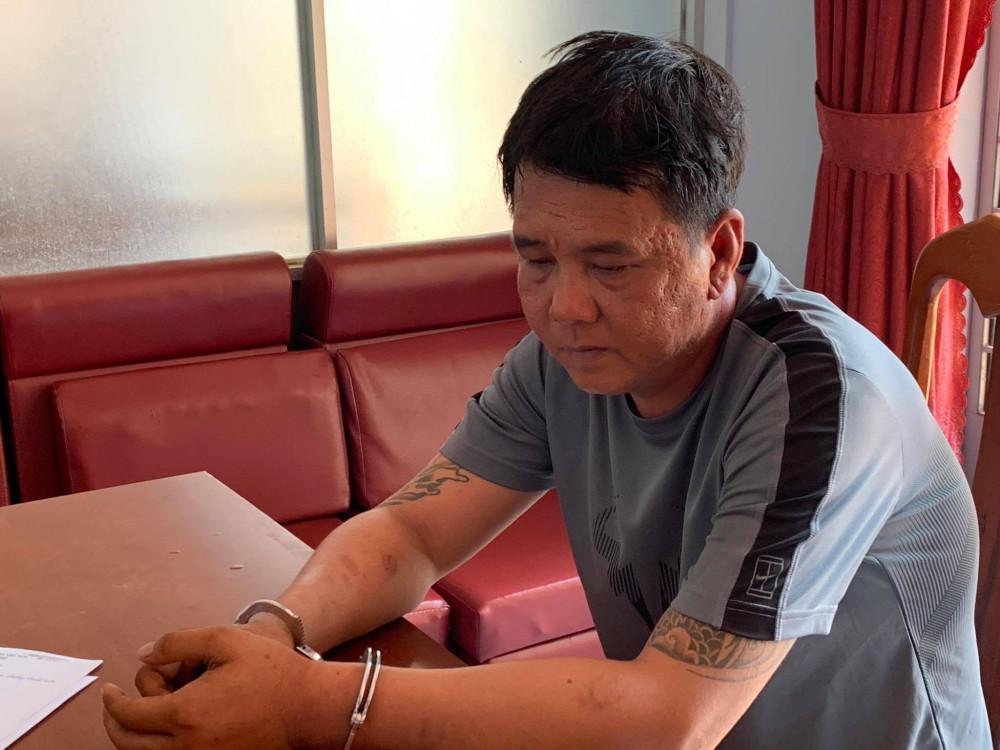 Trần Thanh Tâm tại cơ quan Công an