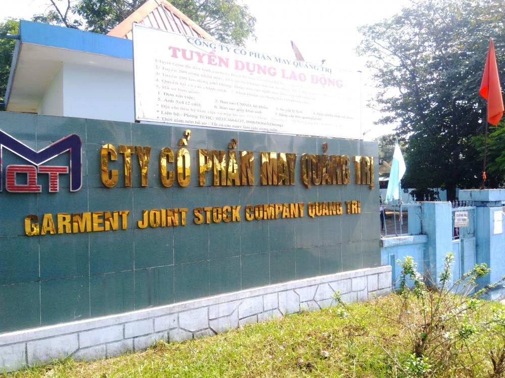 Trụ sở công ty cổ phần may Quảng Trị