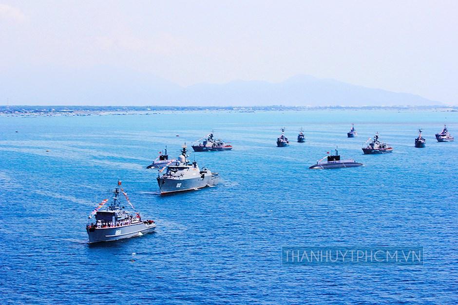 Đội hình Tàu mặt nước, Tàu ngầm tại buổi Lễ kỷ niệm 60 năm ngày thành lập HQND Việt Nam