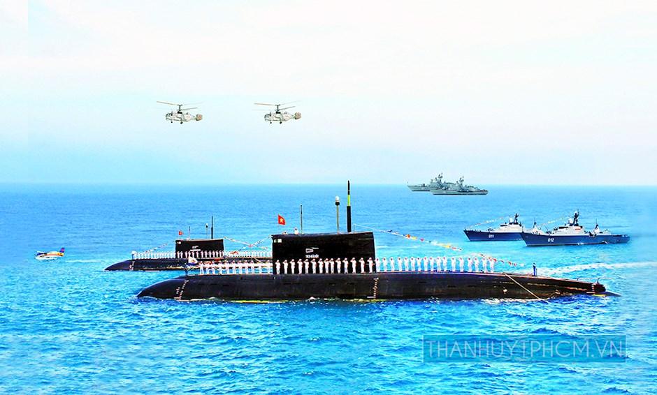 Tàu ngầm 182-Hà Nội và 183-TP Hồ Chí Minh tại Quân cảng Cam Ranh