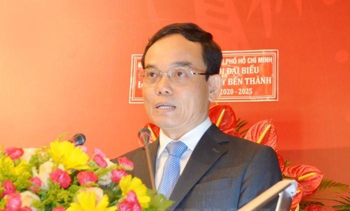 Ông Trần Lưu Quang - Phó Bí thư Thường trực Thành ủy TPHCM phát biểu chỉ đạo tại đại hội.