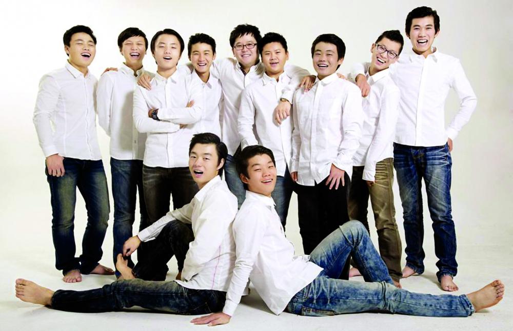 Các chàng trai của gia đình anh Kim vui đùa trong một chuyến dã ngoại gần đây